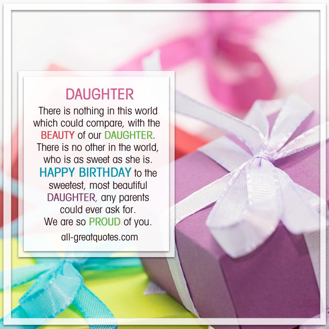 Happy Birthday, to the sweetest most beautiful Daughter Picture Greeting Cards Free To Share
