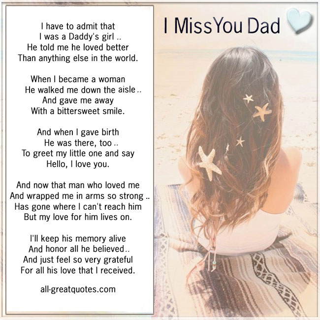 I Miss You Dad - I have to admit that I was a Daddy's girl