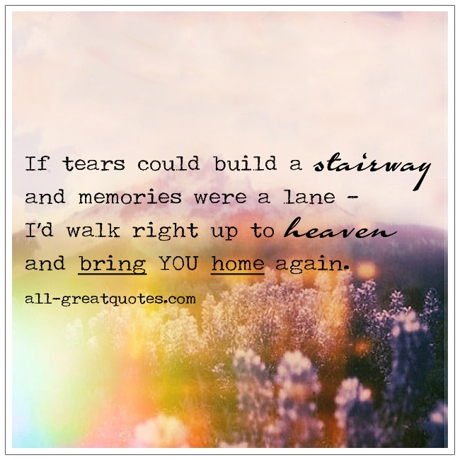 If Tears Could Build A Stairway Grief Verse
