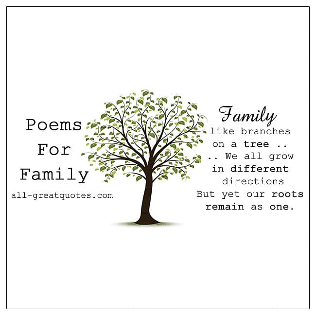 Family Poems For Friends Inspirational Poems About Family ...