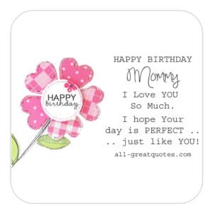 happy birthday mommy  mummy wishes poems to write, Birthday card