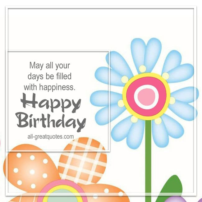 Happy Birthday WIshes Picture Greeting Cards Free To Share