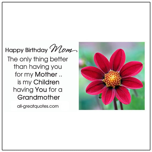 Happy Birthday Mom I Love You Birthday Card