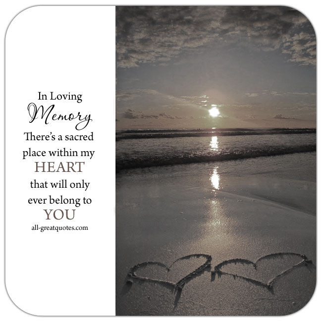 In Loving Memory Picture Cards Free To Share