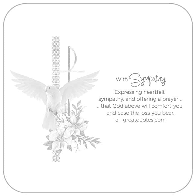 with sympathy expressing heartfelt sympathy and offering a prayer