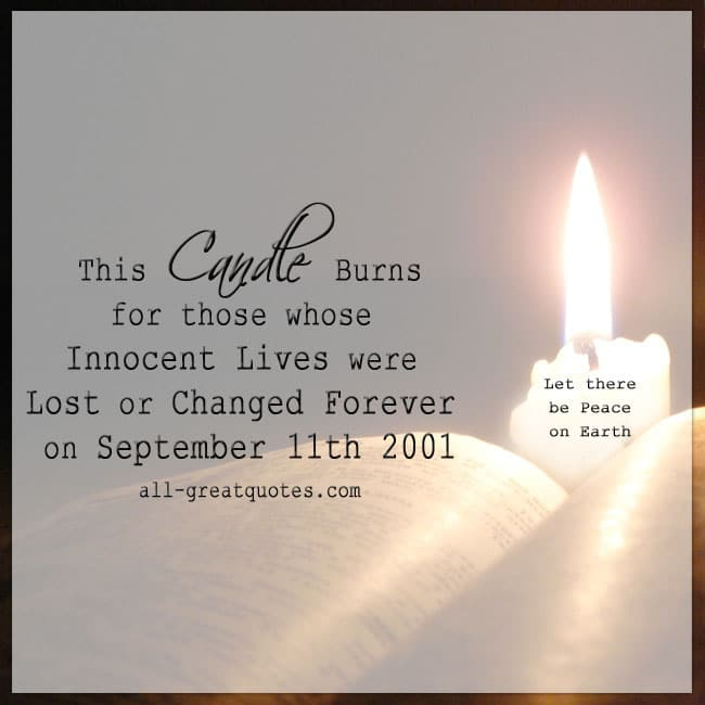For Those Whose Innocent Lives Were Lost | 9/11 Quotes