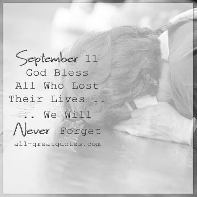 September 11th 9/11 Grief Loss Picture Cards