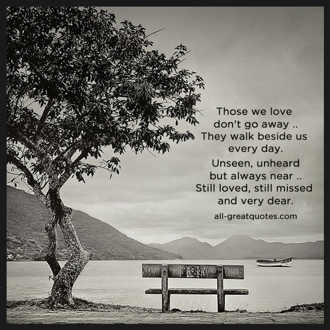 In Loving Memory Cards Those We Love. Grief Poem Cards