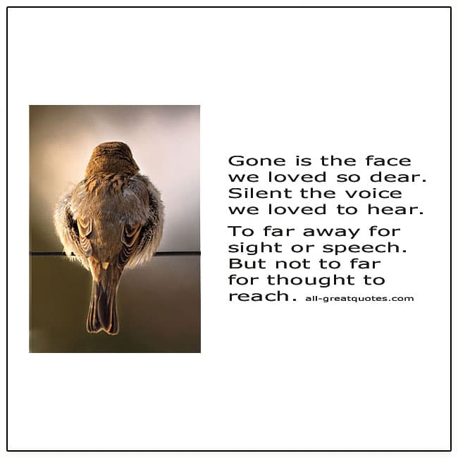 Gone Is The Face We Loved So Dear Poem