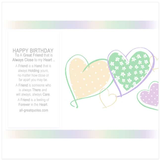 Happy Birthday Cards Friends