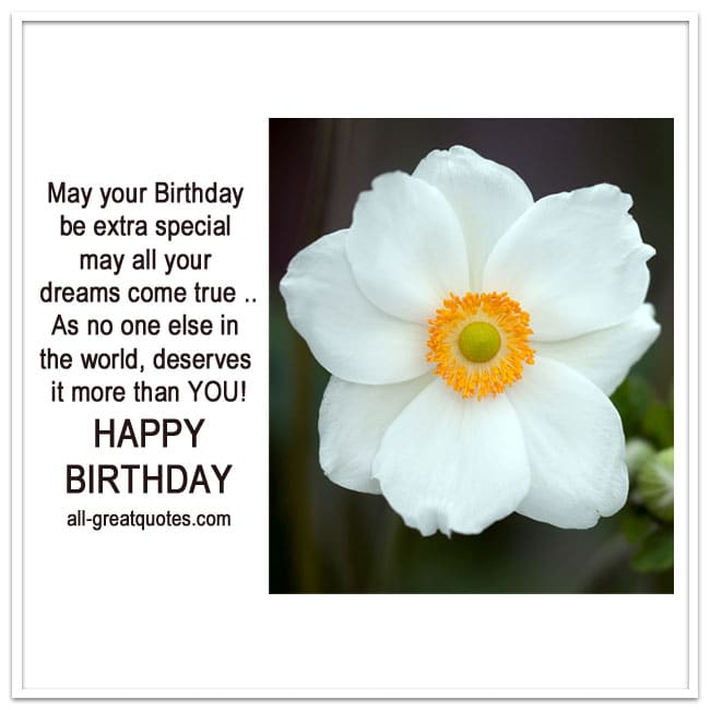 Happy Birthday Cards | May Your Birthday Be Extra Special