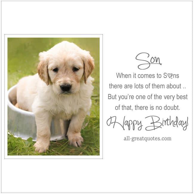 Happy Birthday Cards Son