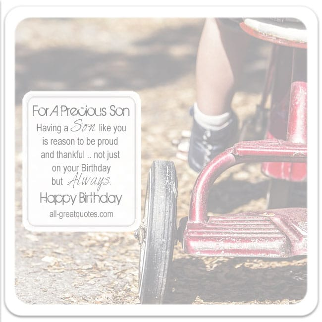 Free Birthday Cards For Son | For A Precious Son