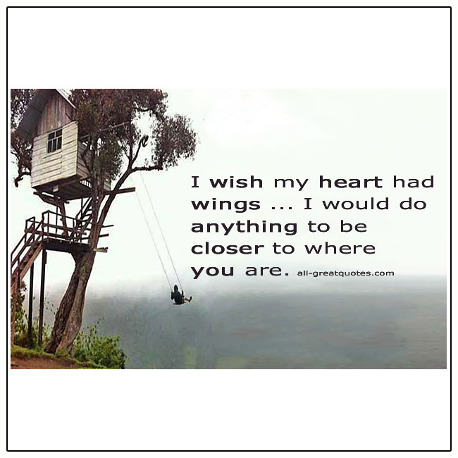 I Wish My Heart Had Wings Grief Quote