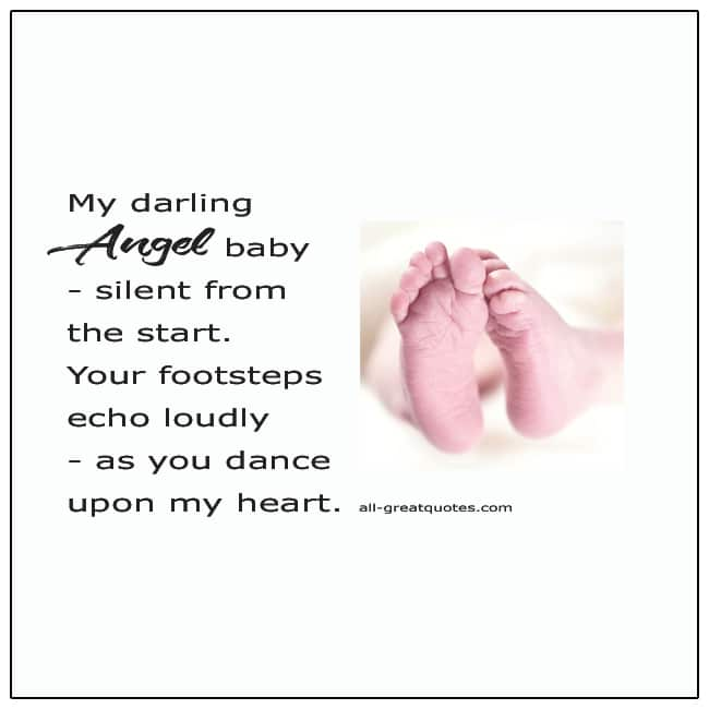 My Darling Angel Baby Silent From The Start Baby Loss Verse Card