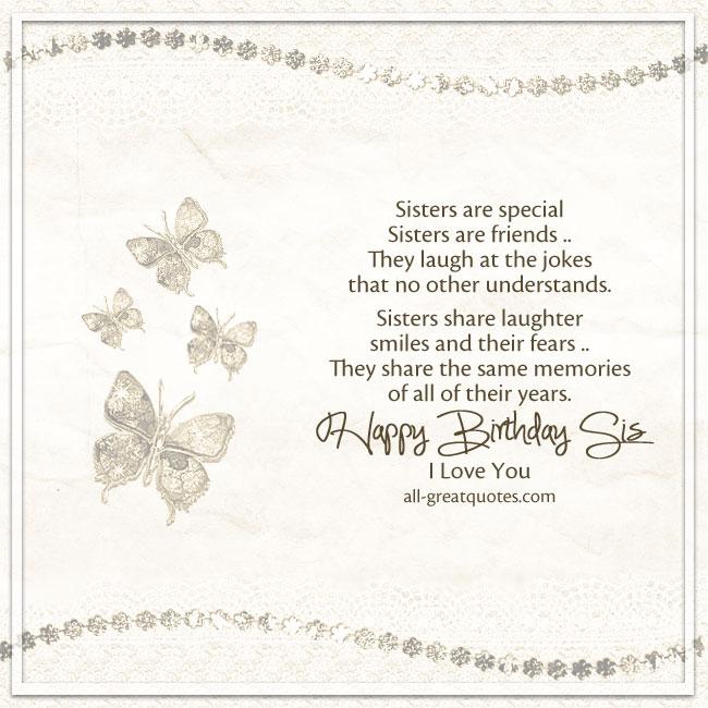 Cute Birthday Card For Sister – Cute Birthday Card for Sister