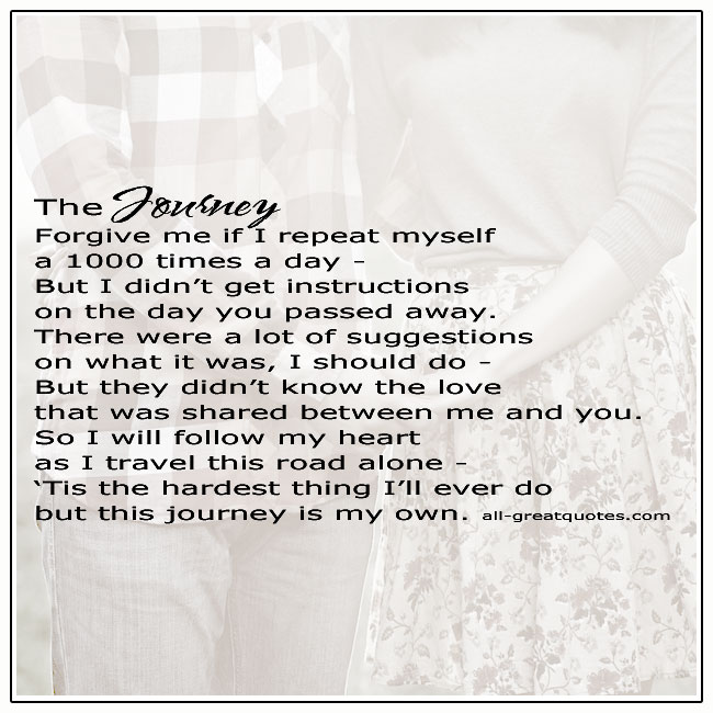 This Journey Is My Own Grief Love Poem