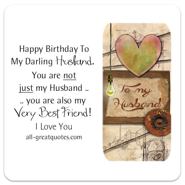 Birthday Wishes for Husband – Happy Birthday Cards for My Husband