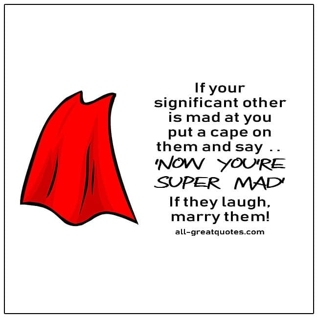 If Your Significant Other Is Mad At You Funny Quote