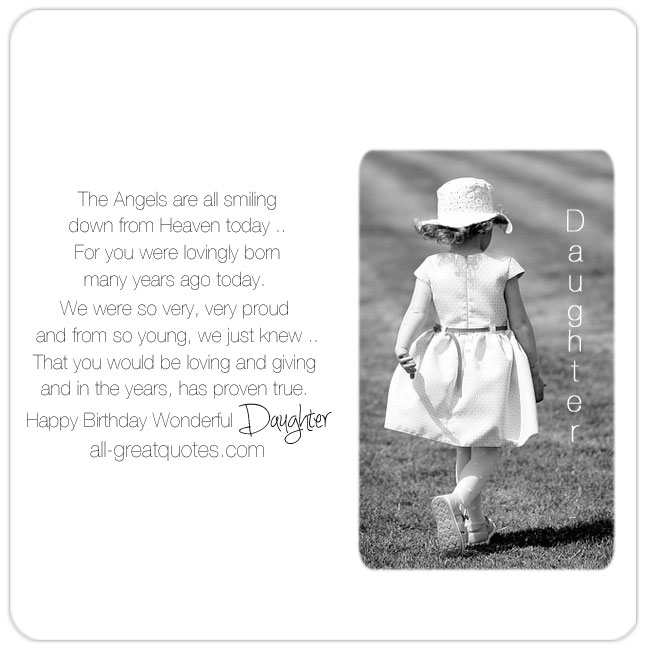 Happy 40th Birthday In Heaven Quotes: Happy Birthday To A Wonderful Daughter