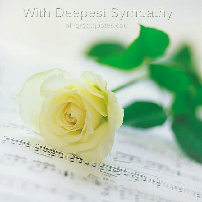 Sympathy Card Messages With Deepest Sympathy