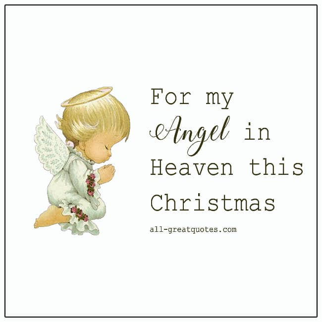 For My Angel In Heaven This Christmas Grief Christmas Cards