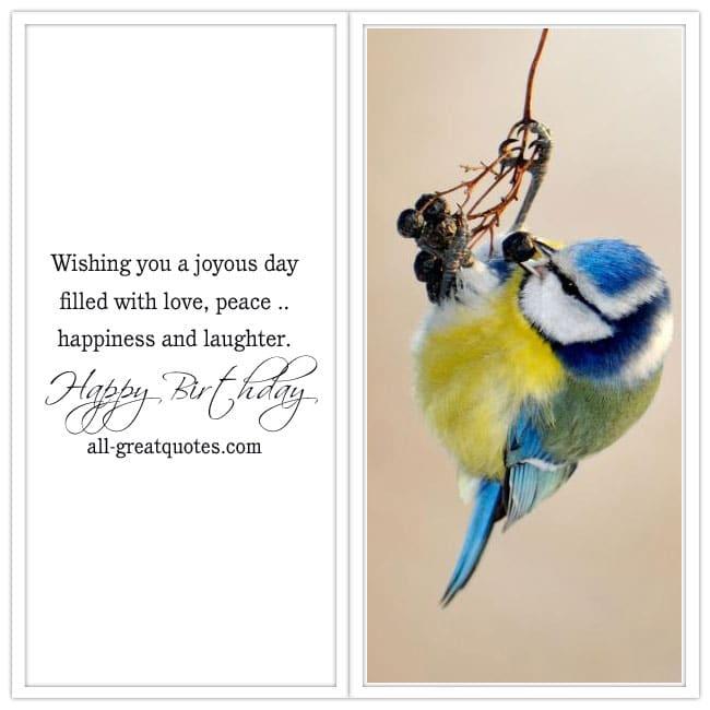 Happy Birthday Cards Wishing You A Joyous Day