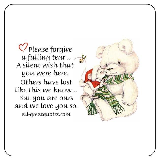 please-forgive-a-silent-tear-christmas-in-heaven-cards