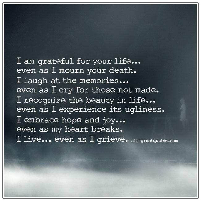 I Live Even As I Grieve Grief Quote Cards