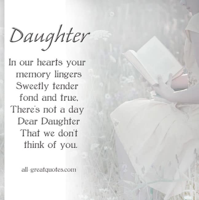 Memorial Cards For Daughter | In our hearts your memory ...