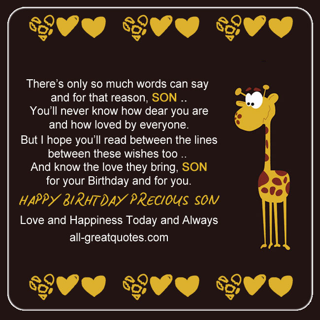 Free birthday cards for son to share on facebook free birthday cards for son on facebook theres only so much words can say and bookmarktalkfo Choice Image
