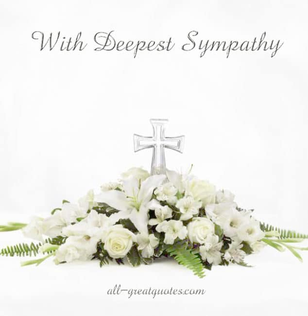 Sympathy Card Messages | With Deepest Sympathy
