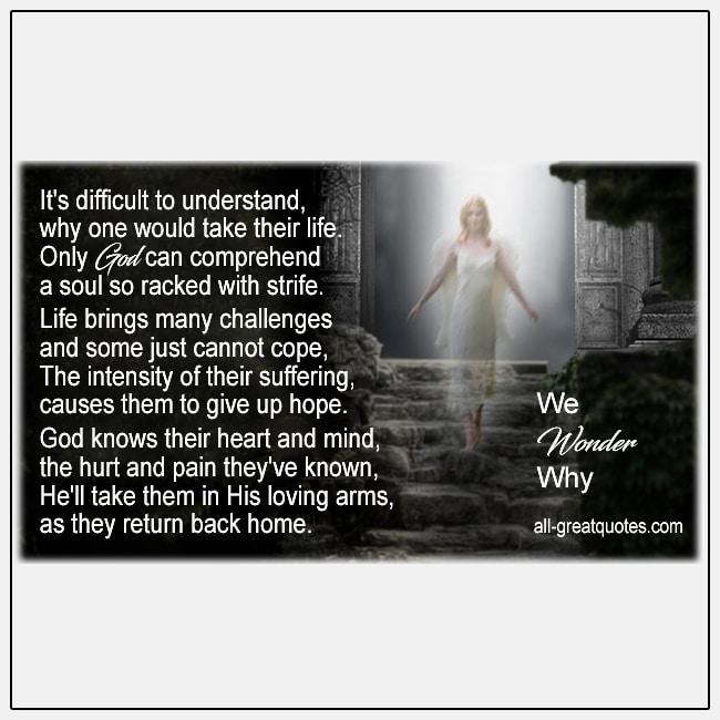 In Loving Memory Cards We Wonder Why