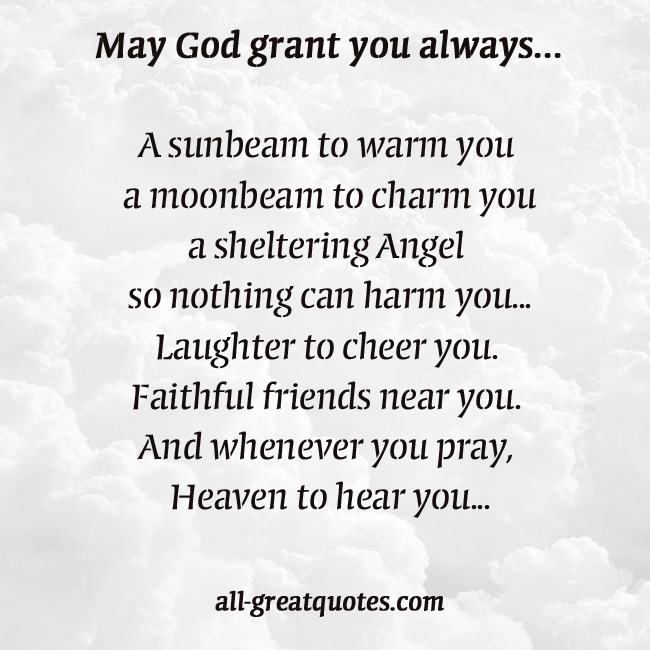 In Loving Memory Cards May God grant you always