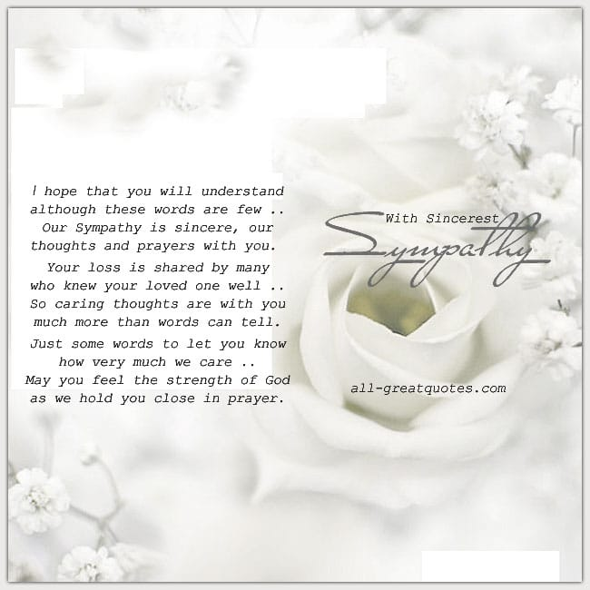 Condolence Cards With Sincerest Sympathy Cards