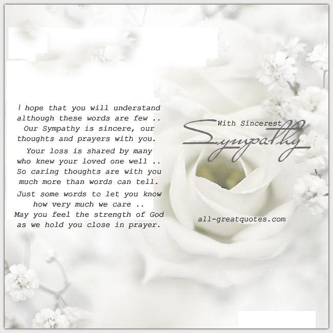 Free Sympathy Cards | With Sincerest Sympathy