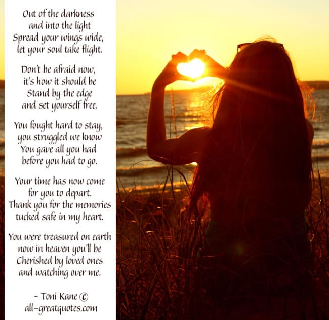 In Loving Memory Cards Out of the darkness and into the light for Salli