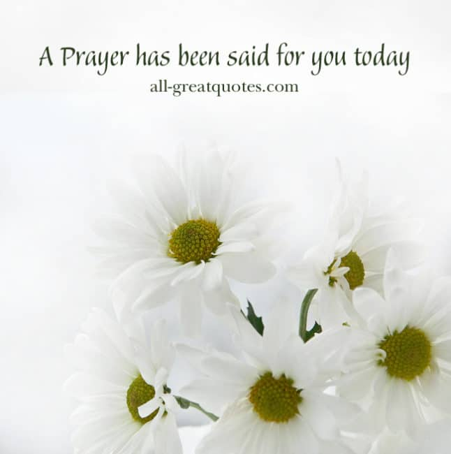 Free Memorial Cards A Prayer has been said for you today