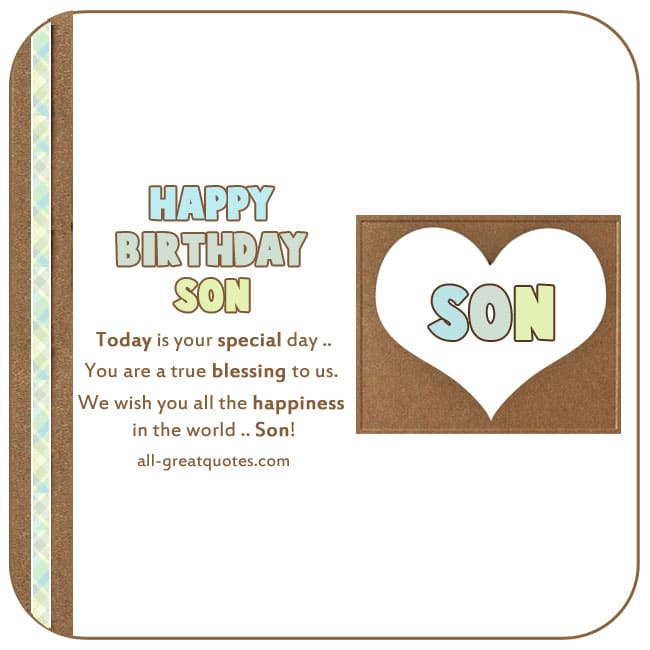 Free birthday cards for son happy birthday son happy birthday son today is your special day bookmarktalkfo Choice Image