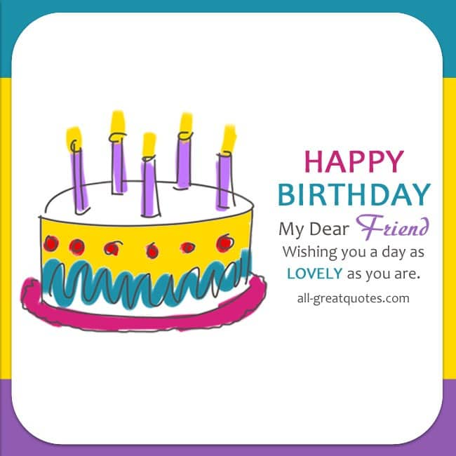 Lovely Free Birthday Cards For Friends All Greatquotes