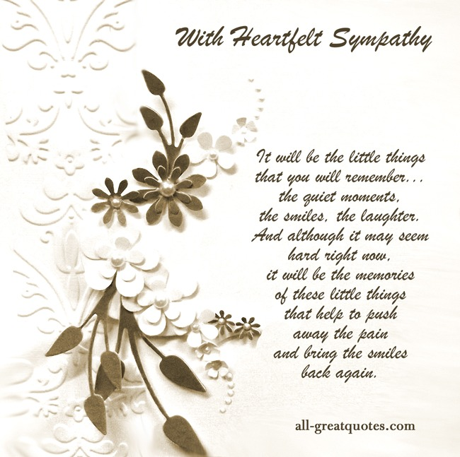 With Heartfelt Sympathy Free Sympathy Condolences Cards