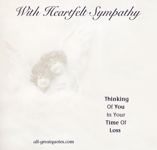 With Heartfelt Sympathy - Thinking Of You In Your Time Of Loss