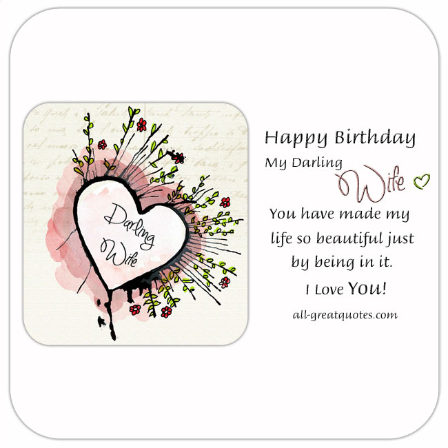 Happy Birthday Darling Wife Birthday Cards For Wife On Facebook