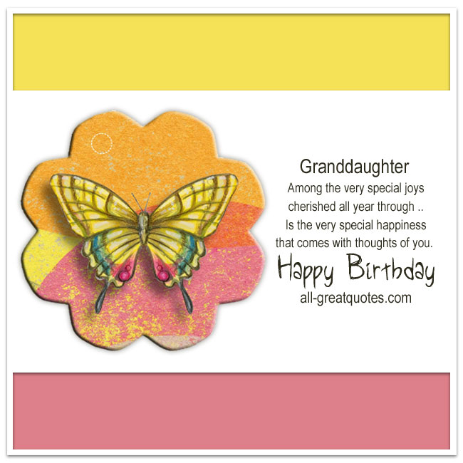 Happy birthday granddaughter facebook greeting cards happy birthday granddaughter card write wishes granddaughter m4hsunfo