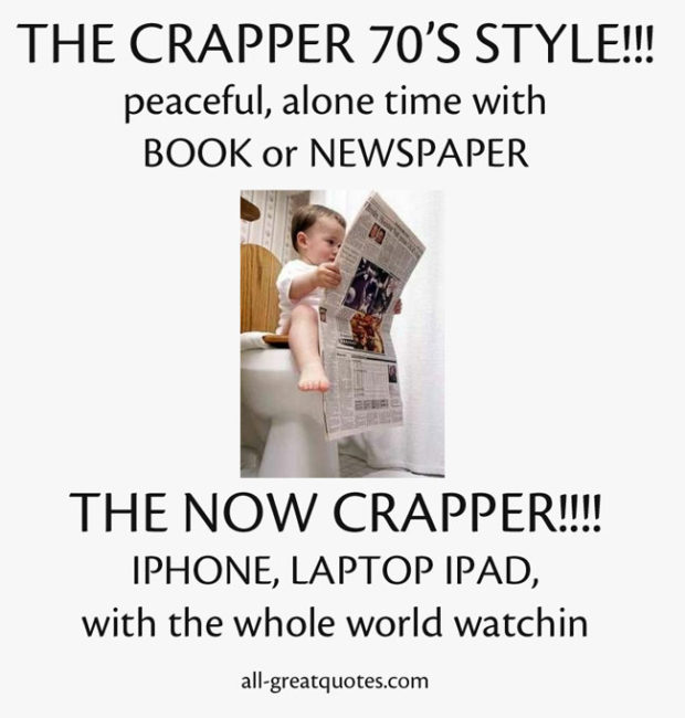 THE CRAPPER 70'S STYLE!!! THE NOW CRAPPER!!!!