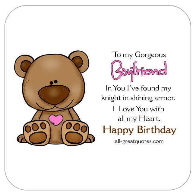 Free Birthday Cards For Boyfriend On Facebook – Birthday Cards for Boyfriend