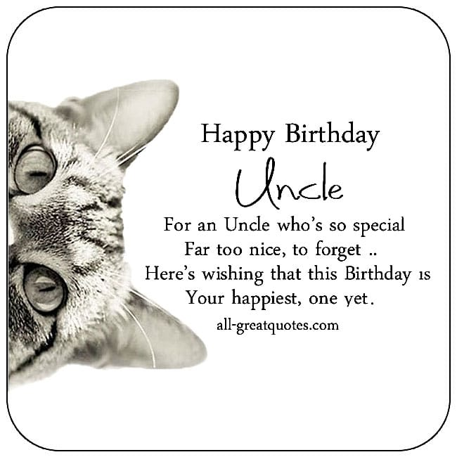 Uncle free birthday cards to share on Facebook, Share on Facebook, Uncle birthday cards for free, ecard images, pictures, photos