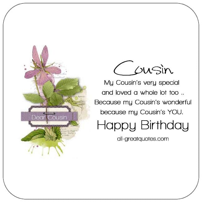 Cousin free birthday cards to share on Facebook, Share on Facebook, birthday cards for free, ecard images, pictures, photos