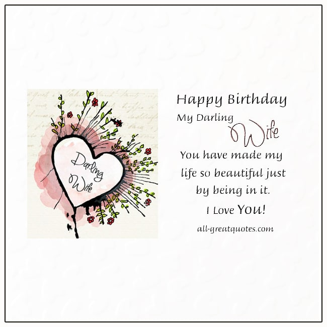 Happy Birthday Card For Wife Birthday Cards