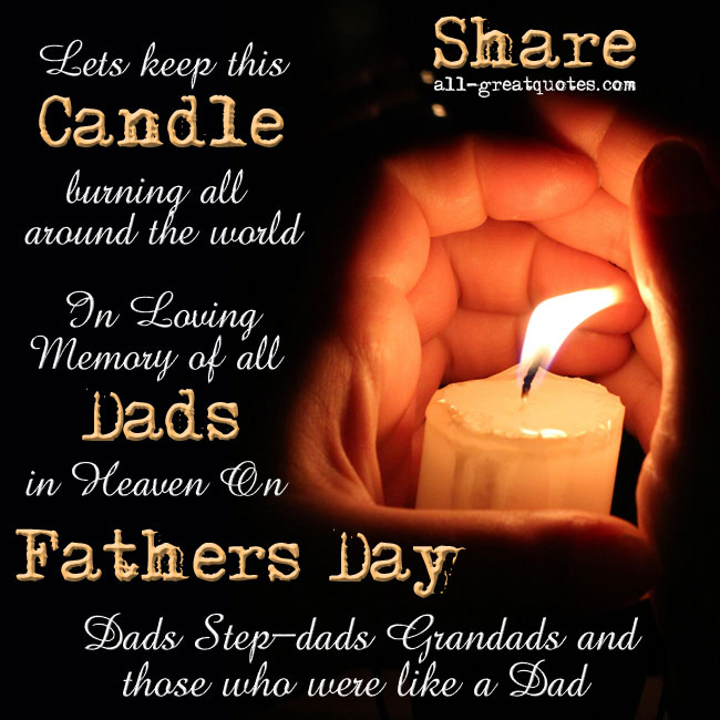 In Loving Memory of all Dads in Heaven On Father's Day Dad Stepdad Grandad Like A Dad
